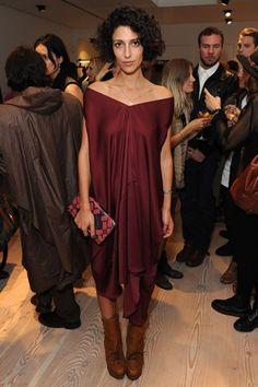 Yasmin Sewell in wine red Star Fashion, Fashion Outfits, Womens Fashion, Australian Fashion, Dress Up, Floaty Dress, Dress Boots, Silk Dress, Minimal Fashion
