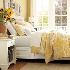 9 Bedrooms Show You How to Do Yellow Right: Yellow and White French Country