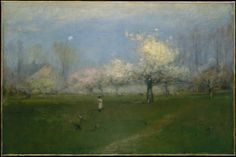 """""""Spring Blossoms, Montclair, New Jersey,"""" by George Inness, 1891 (The Metropolitan Museum of Art)"""