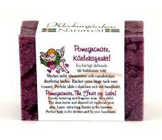 """Naturtvål """"Pomegranat Kärleksfrukt"""" Pomegranate, Shea Butter, Almond, Soap, Granada, Pomegranates, Almond Joy, Bar Soap, Almonds"""