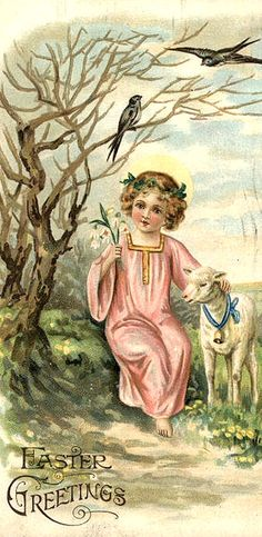 My favorites...a lamb, birds and a child.