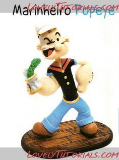 Popeye the Sailor figure making tutorial