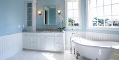 Looking for bathroom color ideas? Well, firstly Color selection is very important for the bathroom design.Here are a gorgeous bathroom color ideas. Best Bathroom Colors, Bathroom Color Schemes, Bathroom Paint Colors, Ikea Bathroom, Bathroom Interior, Modern Bathroom, Master Bathroom, Bathroom Ideas, Bathroom Remodeling