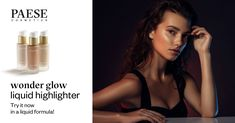 Liquid Highlighter, Glow, Beauty, Sparkle, Beauty Illustration