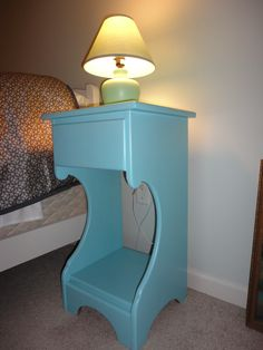 I finished it off with a coat of Sherwin Williams semi-gloss ProClassic latex in Rapture Blue. Voila!