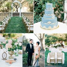 A Romantic Vintage-Inspired Garden Wedding at a Victorian House