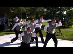 Awesome Wedding Dance... What's better than grown men dancing to Aladdin?! oh yeah... dancing to the Biebs and Miley too!