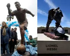 Welcome to Emmanuel Donkor's Blog    www.DonkorsBlog.Com                                        : Messi's statue vandalised in Buenos Aires