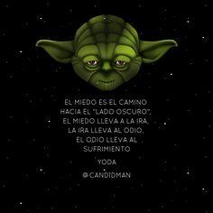 El miedo es el camino hacia el Lado Oscuro, el miedo lleva a la ira, la ira…