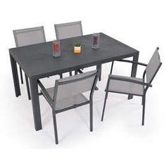Salon de jardin: Table PALERME 2M + 6 fauteuils DALLAS | Dallas