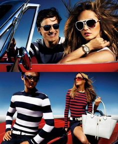 Spring/summer 2013 fashion ad campaign round-up    MICHAEL KORS    Model: Karmen Pedaru and Simon Nessman