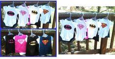 superhero baby caped onsies