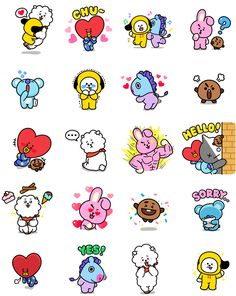 Printable Stickers, Cute Stickers, Planner Stickers, Kawaii Stickers, Funny Drawings, Bts Drawings, Tumblr Stickers, Bts Chibi, Line Friends