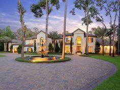 Mediterranean / Italian style mansion,  The Woodlands, Texas