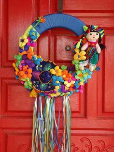 Fiesta Wreath. $55.00, via Etsy.
