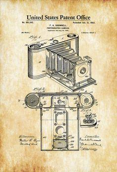 1902 Folding Photographic Camera Patent - Patent Print Wall Decor Photography Art Camera Art Photography Patent Vintage Camera Patent by PatentsAsPrints