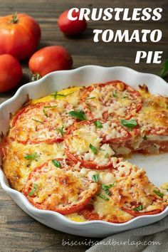 Vegetable Recipes, Vegetarian Recipes, Cooking Recipes, Healthy Recipes, Healthy Food, Tomato Pie Recipes, Raw Food, Healthy Nutrition, Garden Tomato Recipes