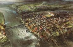 Londinium at the time of Hadrian Roman Britain, Ancient History, Old World, Medieval, Cities, Landscapes, Old Things, England, London