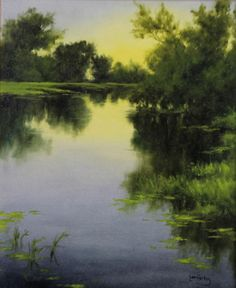 "Tranquil Inlet, Laura den Hertog (2013) oil on canvas, 20"" x 16"""