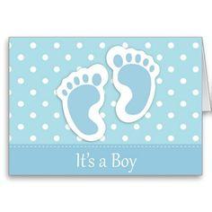 It's A Boy Cards #NewBorn #Baby #Infant #GreetingCard