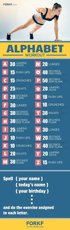The Alphabet Workout - Exercises For Each Letter | Posted By: AdvancedWeightLossTips.com
