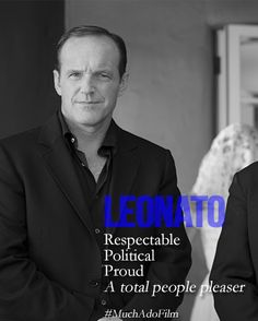 And, damn, the man does Shakespeare, too. Clark Gregg as Leonato in Much Ado About Nothing.