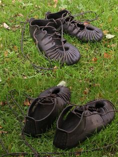 Bronze age/iron age sandals. Made by Henrik Nordholm.