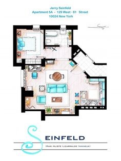 Seinfeld- Jerry Seinfeld's One Bedroom New York Apartment