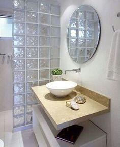 Tijolo de vidro - Banheiro