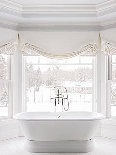 Bay Windows and this bath. Just need to win the lottery to buy the house to fit my bathroom in....