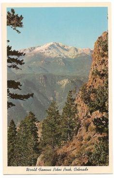 Vintage Colorado Postcard Pikes Peak