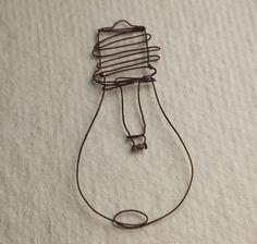 light bulb wire art   |   Minato Ishikawa