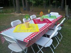 Farm Party Easy table decor