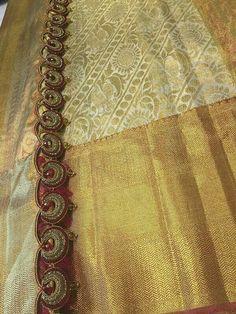 Saree Tassels Designs, Saree Kuchu Designs, Bridal Blouse Designs, Aari Embroidery, Embroidery Patterns, Saree Border, Indian Bridal Fashion, Elegant Saree, Saree Styles