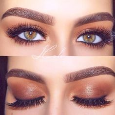 Shimmer Brown Smokey Eyes Makeup #eyemakeup How to pick the best eyeshadow palette when the choice is so wide? Learn which will work for you best: Kylie, Elf, Morphe, Too Faced, Urban Decay. #eyeshadowpalette #palette #makeup #glaminati #lifestyle
