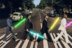 """""""Star Wars + The Beatles Abbey Road? I dunno if likes the beatles, but this makes it even cooler. Abbey Road, Beatles Tumblr, Christophe Mae, Simpsons, Les Beatles, Beatles Art, Beatles Poster, Pop Rock, Road Rage"""