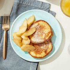 Cat Cora's ricotta hotcakes with warm cinnamon apples