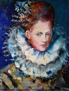 Original Portrait Painting by Marina Del Pozo Vintage Postcards, Saatchi Art, Pin Up, Original Paintings, Sculpture, Fine Art, Art Prints, Portrait, Illustration