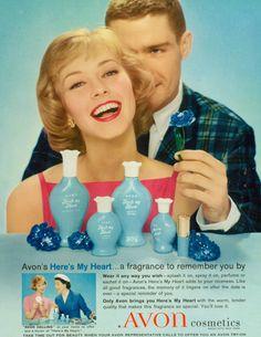 vintage colonge ad | Avon- Here's My Heart (Vintage Perfume)