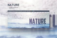 Nature - Facebook Timeline Cover by VectorMedia on @creativemarket