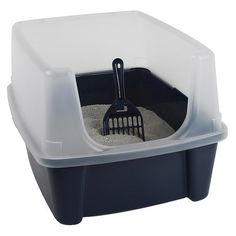 "Open Top Litter Box.  Dimensions: 19.0 "" L x 11.75 "" H x 15.0 "" W Fra Target til $16.99"