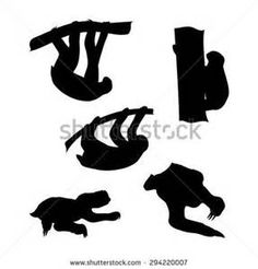 Silhouette Clipart two toed sloth - Saferbrowser Yahoo Image Search Results