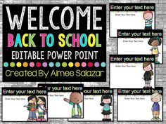 FREE {Editable} Back to School Power Point