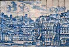 Lisbon Portugal Azulejo Tile Art Couch Throw Pillow by Tony Silveira - Cover x with pillow insert - Indoor Pillow Baroque Art, Virtual Museum, Portuguese Tiles, Iron Work, Wooden Wall Art, Wood Wall, Tile Art, Tile Murals, Art And Architecture
