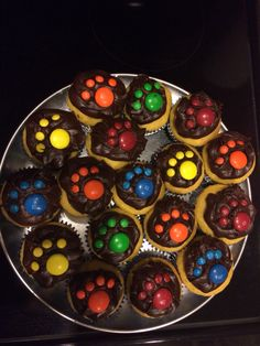 Paw Print Cup Cakes