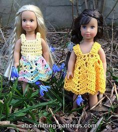 Ravelry: American Girl Doll Mini Sundress, Skirt and Top pattern by Elaine Phillips