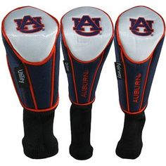 For the AU golfer. 3-Pack Navy Blue-White Golf Club Headcovers