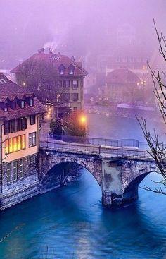 Foggy Bridge, Bern, Switzerland