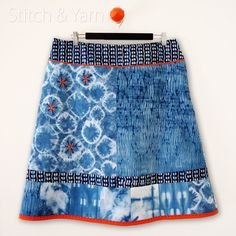 Hand-dyed and embroidered skirt.