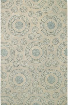 $5 Off when you share! Capel Spindles 3283 Blue Rug